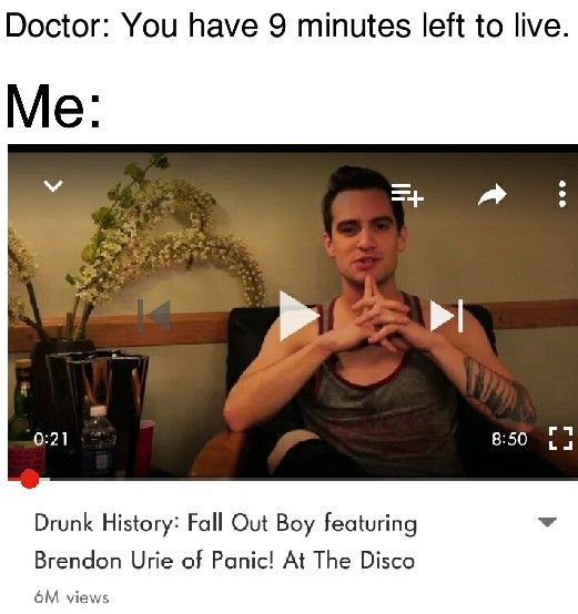 BrendonUrie FallOutBoy Meme The Drunk History Of Fall Out Boy