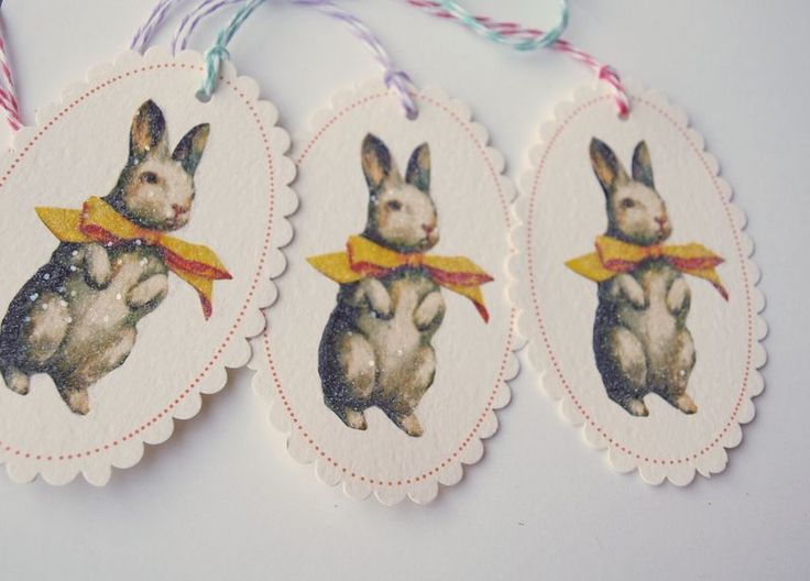 119 best easter cupcakes toppers tags wrappers images on free printable vintage bunny tags negle Images