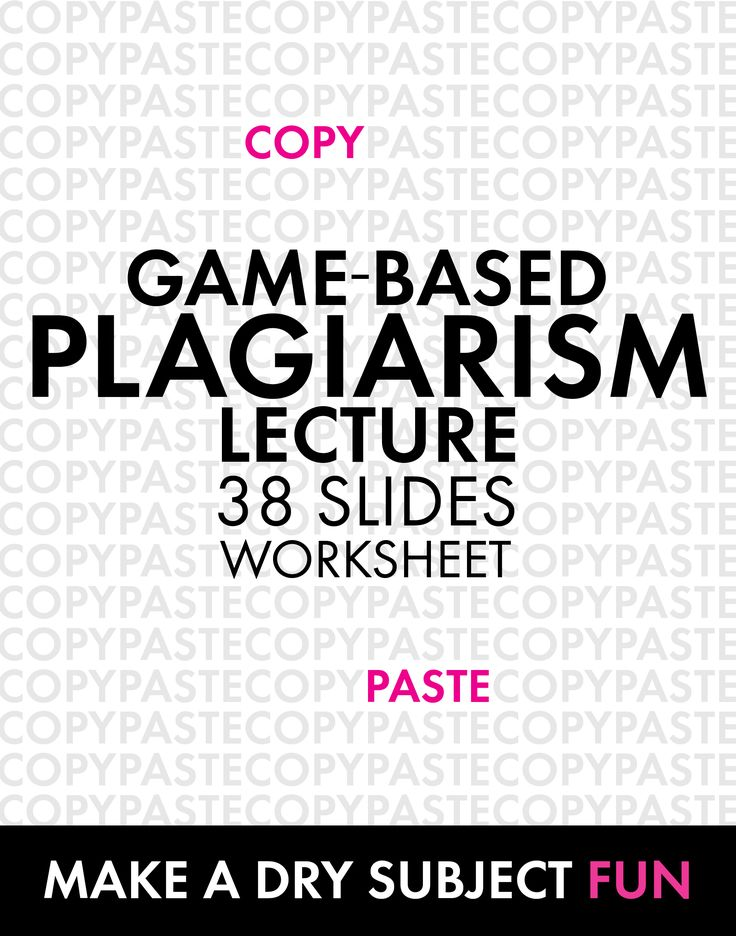 Plagiarism Lecture, Game-Based Approach to Review