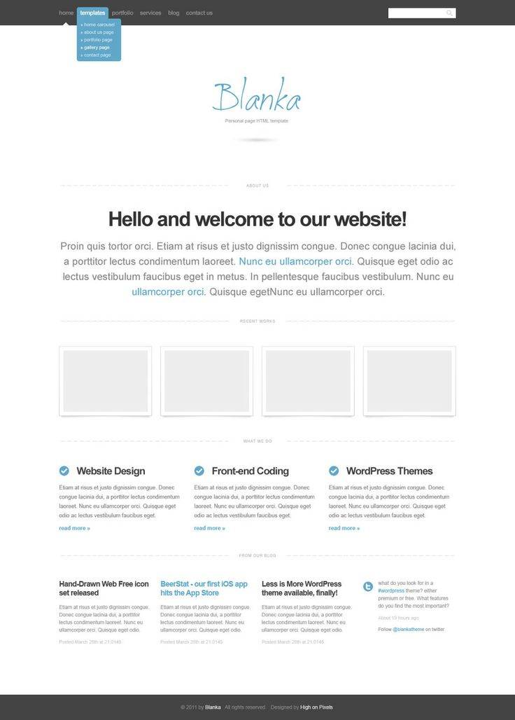 107 best Free Website Templates images on Pinterest Free website - make your own invoice free