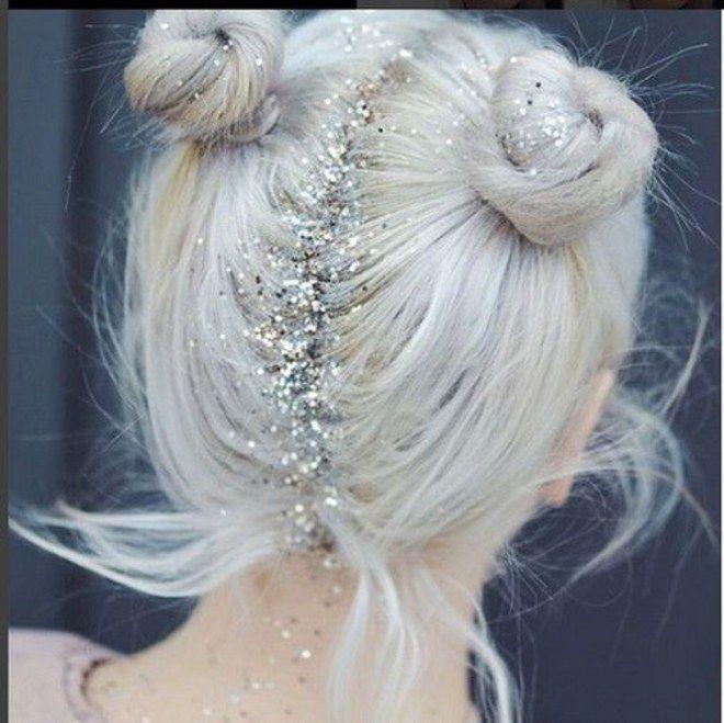 Glitter na raiz! Inspiração de make, penteados e unhas brilhantes
