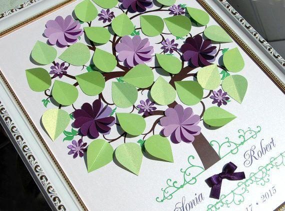 Custom Wedding tree  Personalized Guest Book by WeddingUkraine