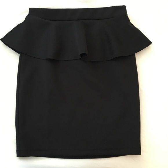 NWOT Forever 21 Black Peplum Skirt - Medium NWOT Forever 21 Black Peplum Skirt in size medium. I cut the tag off, but never wore them and no longer fit it. Forever 21 Skirts