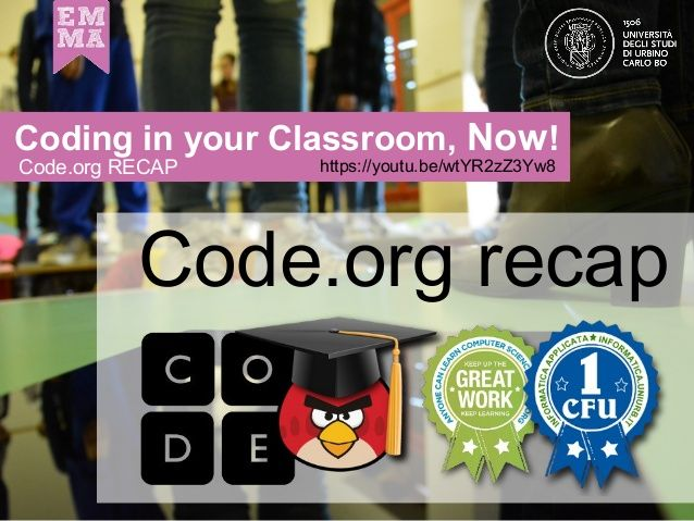 CodeMOOC 4.9: Code,org RECAP