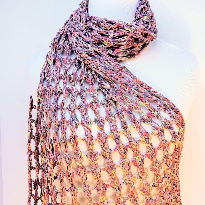 Tandem Fling Wrap Free Crochet Pattern Crochet Shawl Pattern Free Crochet Wrap Pattern Crochet Shawl Easy