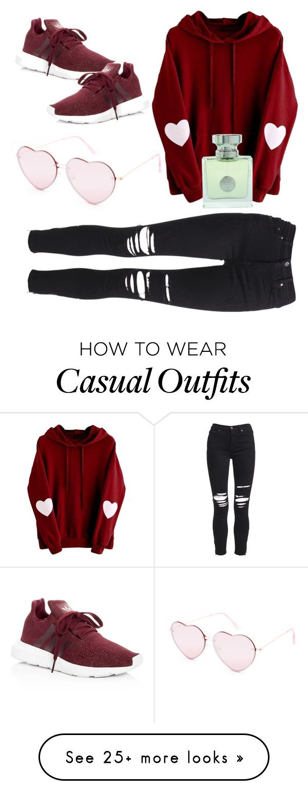 """Just B Casual"" by sweetyincago on Polyvore featuring Full Tilt, AMIRI, adidas and Versace"