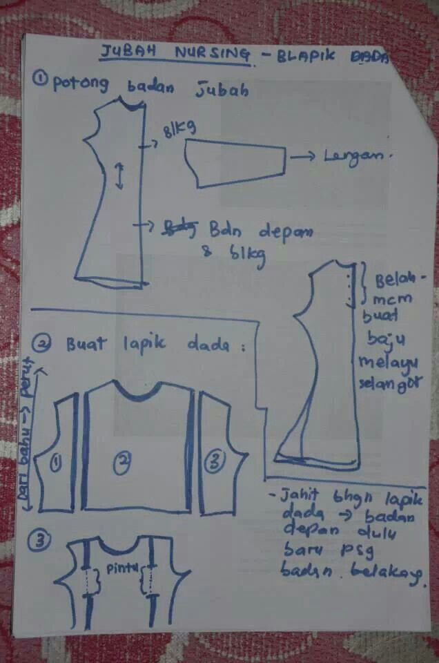 How to sew nursing jubah