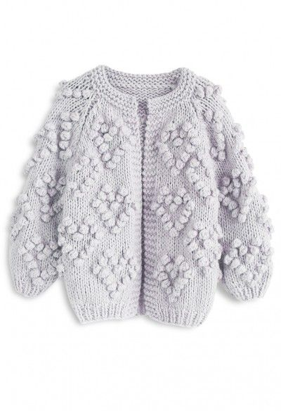 371e675f53a Knit Your Love Cardigan in Wine For Kids - Retro