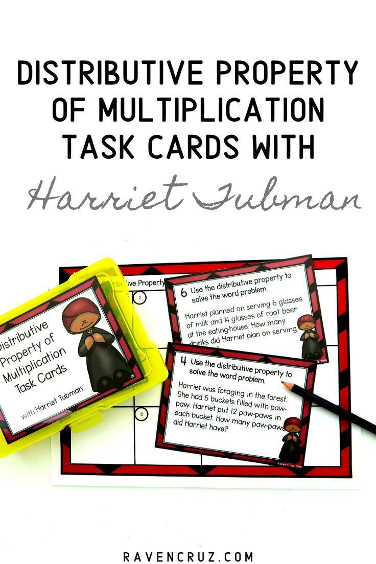 Distributive Property Of Multiplication Task Cards 3rd Grade Multiplication Task Cards Distributive Property Of Multiplication Properties Of Multiplication [ 1104 x 736 Pixel ]