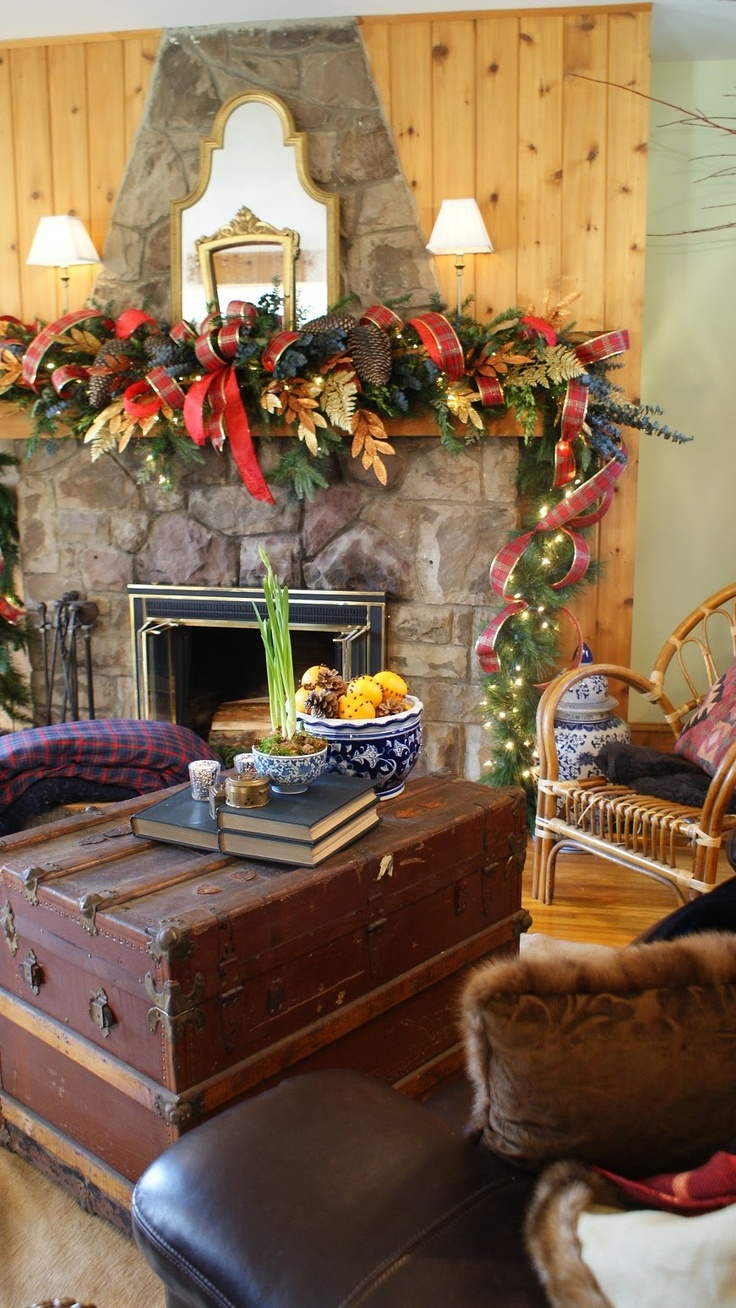 Christmas mantel decorations pinterest