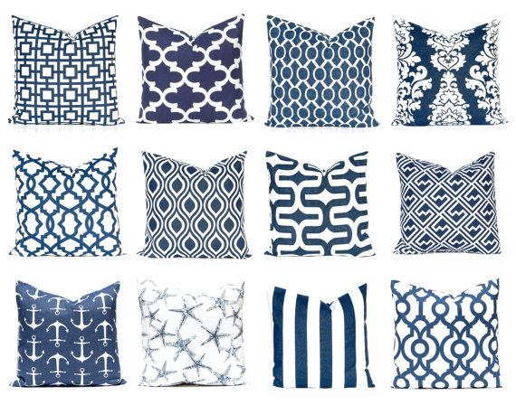 Navy Blue Pillow Covers Navy Pillow Decorative by FestiveHomeDecor
