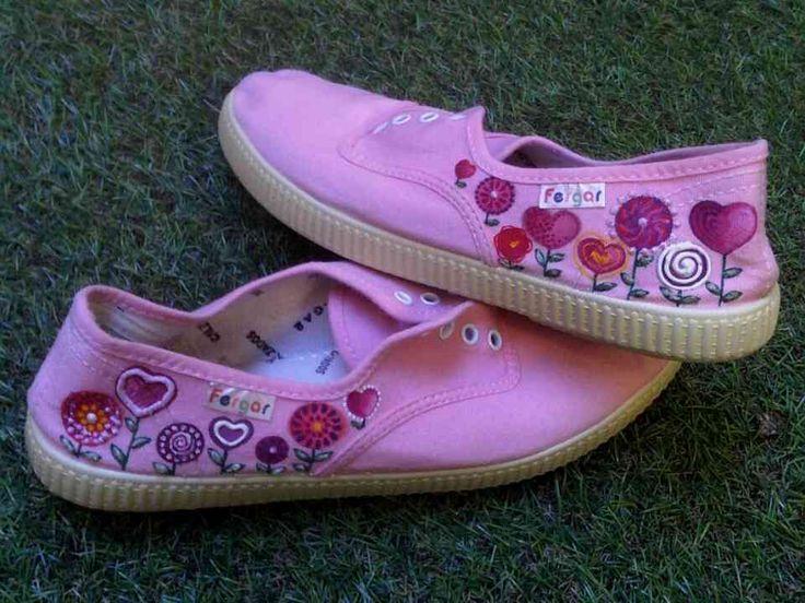 Zapatillas pintadas a mano Diseño Candy