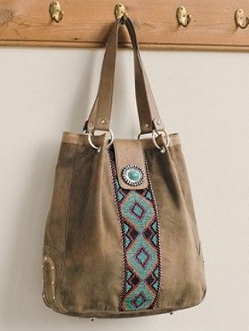 Navajo inspired beaded tote.  The beadwork on this bag is so beautiful!