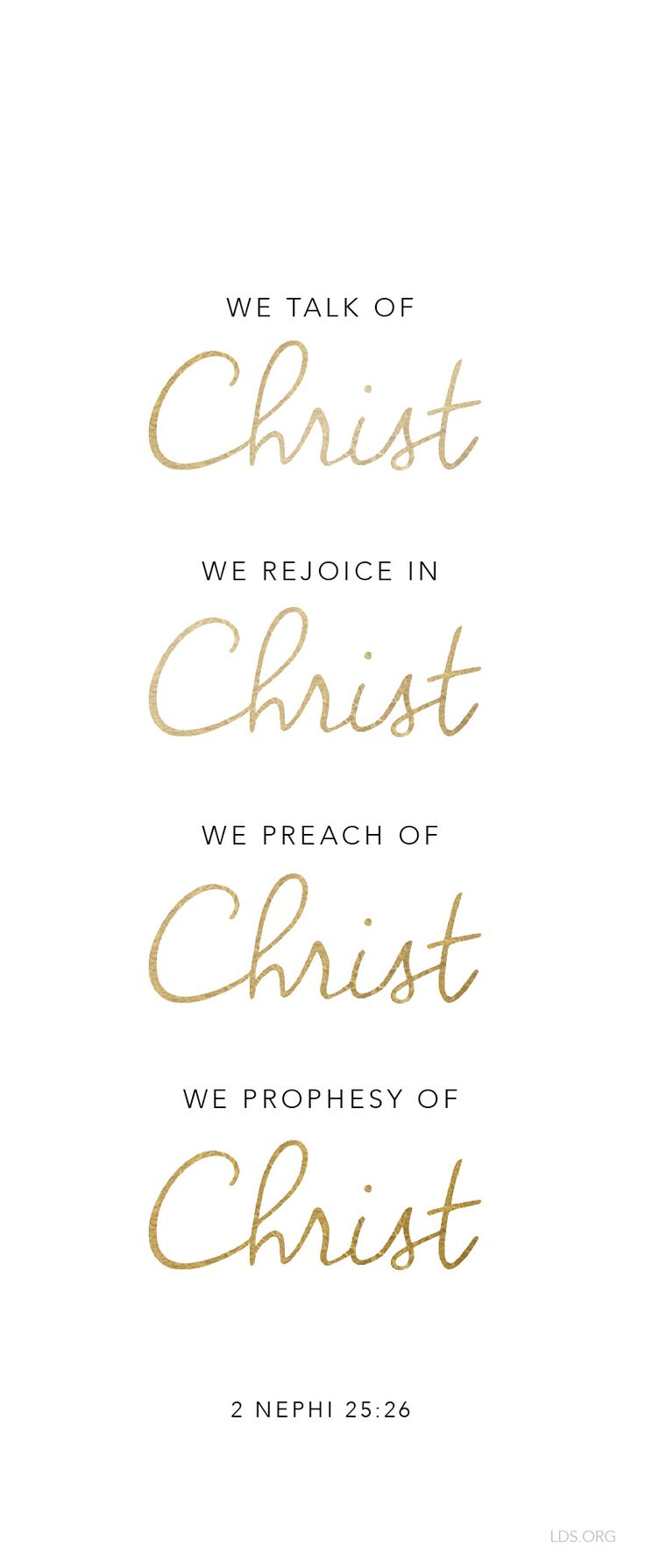 Because happiness happens through Him. #LDS