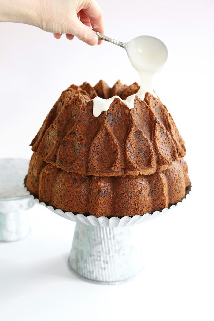 Chocolate Chip Double Bundt Cake | Sprinkle Bakes