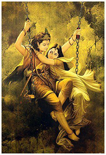 Avercart Lord Krishna / Shri Krishna with Radha / Symbol ...…