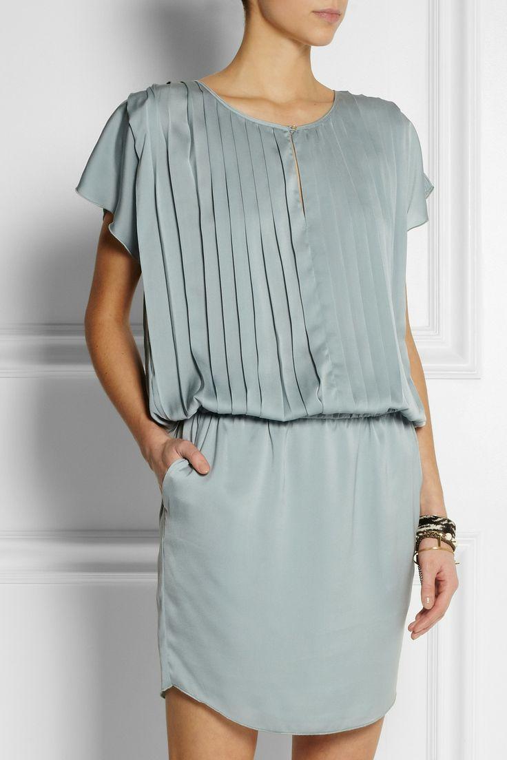 DAY Birger et Mikkelsen|Pleated satin dress|NET-A-PORTER.COM