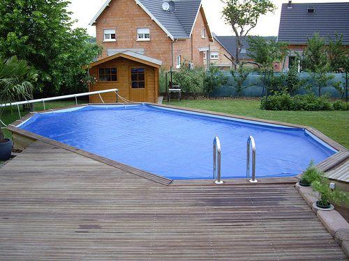 Piscine hors sol bois avec terrasse - Hydro Sud Colmar / Lutterbach (68)