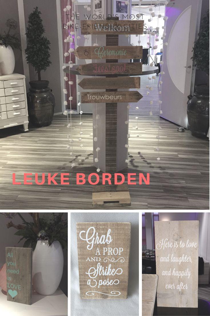 Alle leuke houten borden voor jullie bruiloft zijn verkrijgbaar bij Belevenis op je Bruiloft stel ze geheel naar jullie wens samen! Allemaal hand gemaakte producten
