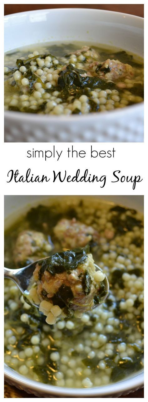I combined several recipes to create the world's best Italian Wedding Soup (according to my family).