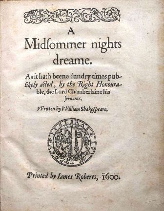 A picture for the play A Midsummer Night's Dream