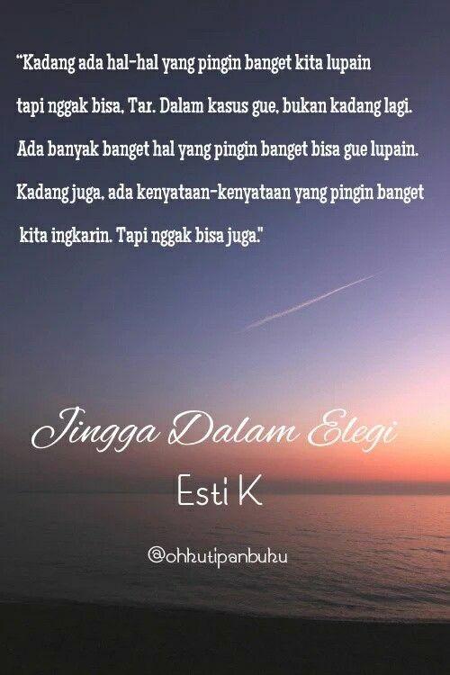 Quotes of Novel Jingga dalam elegi