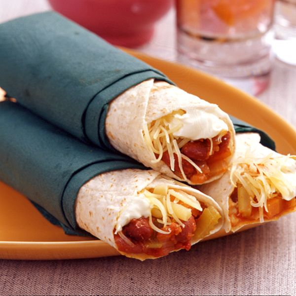 Vegetarische chiliwraps! #WeightWatchers #WWrecept