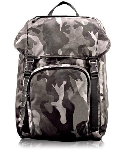Prada \u0026quot;Smoke Camouflage Nylon Drawcord Backpack\u0026quot; | camouflage ...