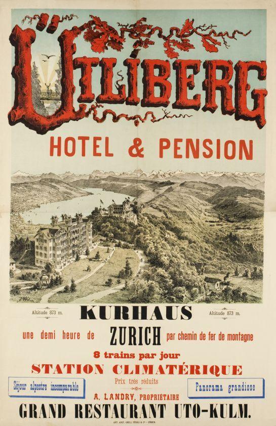 Utiliberg, Hôtel & Pension (by Weber Johannes / 1890)