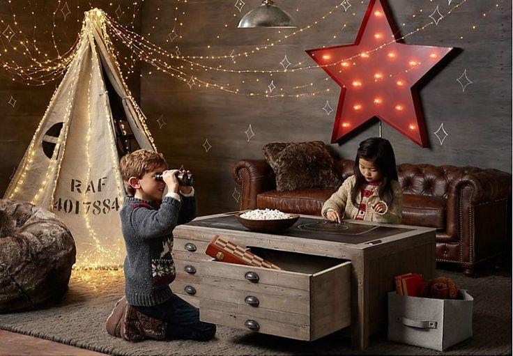 Vintage Industrial Yet Cute Kid's Playroom Ideas
