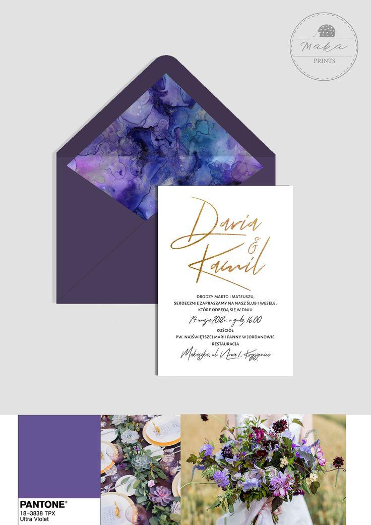 Zaproszenie ślubne Ultraviolet // Ultraviolet wedding invitation