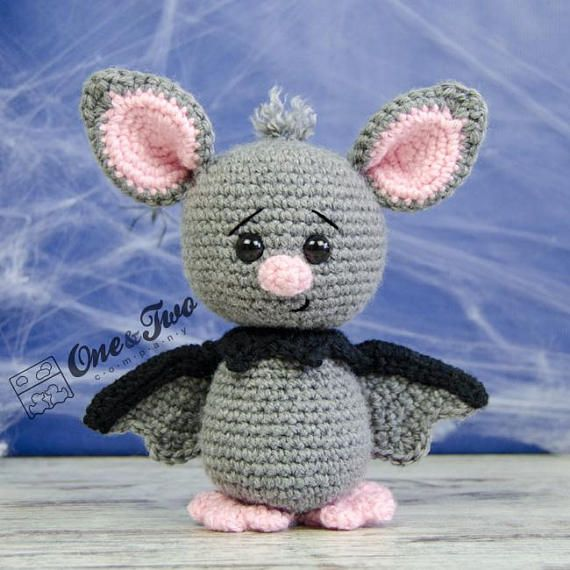 Brook the Tiny Bat Amigurumi – PDF Crochet Pattern – Instant Download – Amigurumi crochet Cuddy Stuff Plush