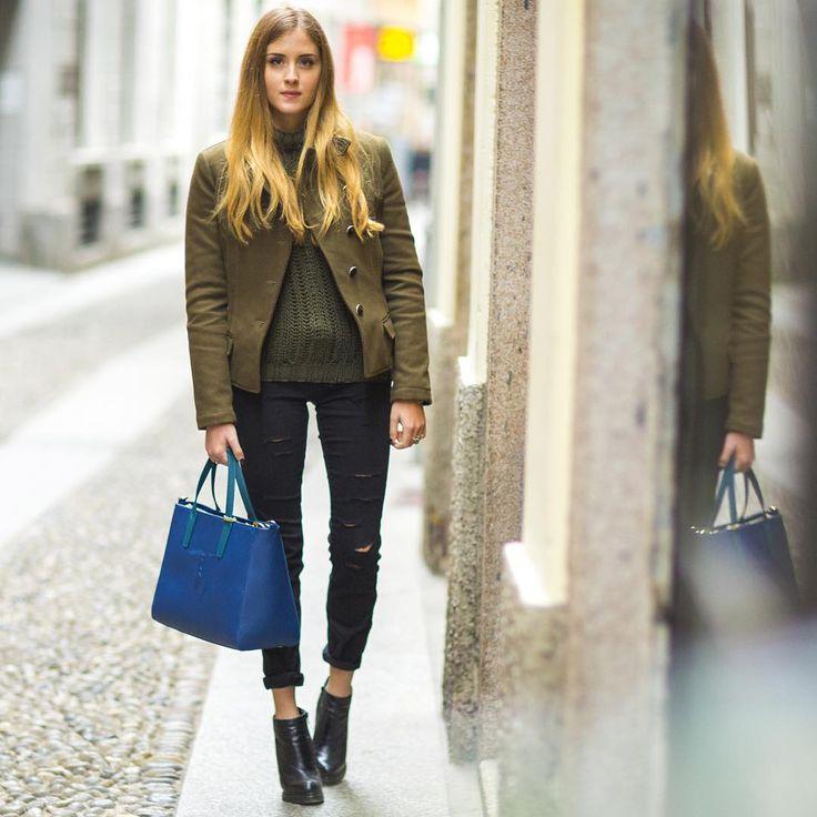 Valentina Ferragni wearing the TRUSSARDI JEANS It bag #TJBag