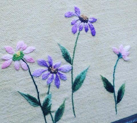 "41 Likes, 2 Comments - 김은주 (@eunju4981) on Instagram: ""#야생화자수  #embroidery"""