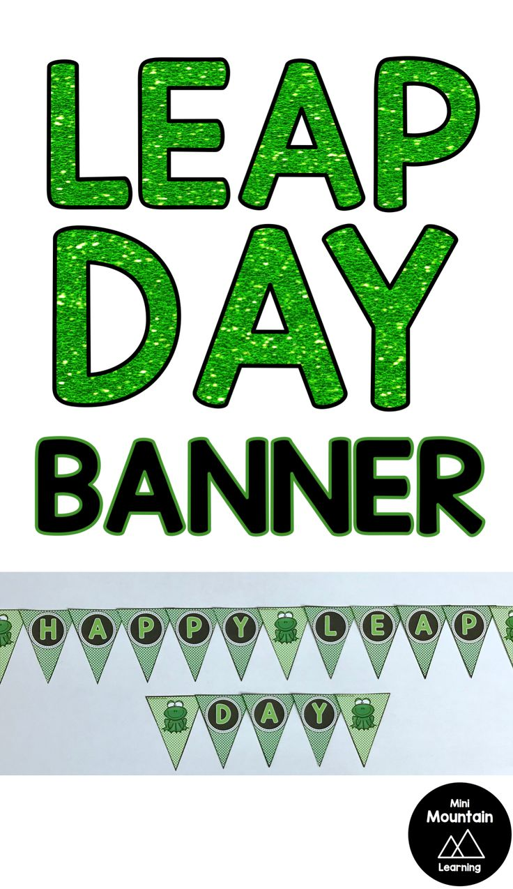 Leap Day Banner Leap day, Banner, Day book