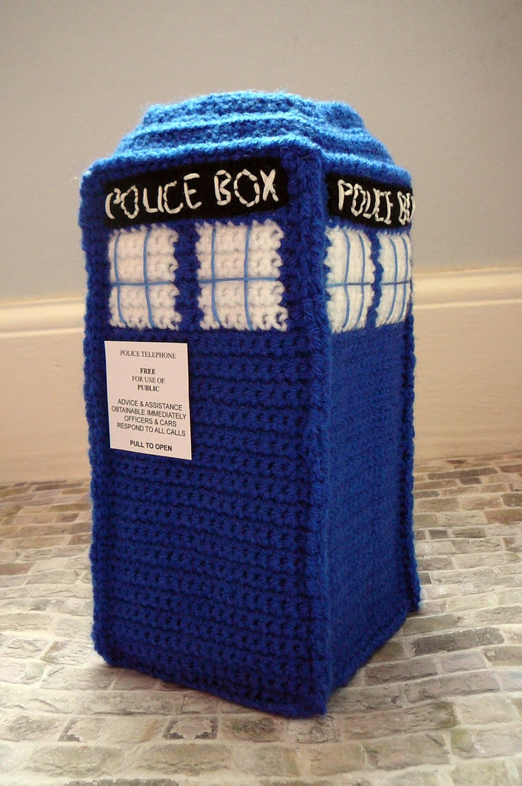 Woodstock Amigurumi Free Pattern : Crocheted TARDIS- made from a brilliant pattern by Sara ...