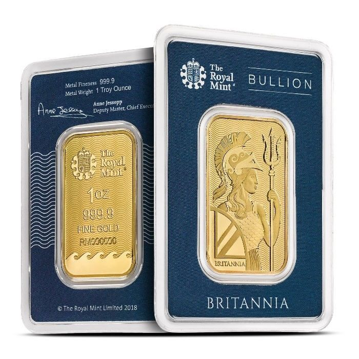 1 Oz Gold Britannia Bar Goldbars Gold Gold Bars For Sale Royal Mint Gold