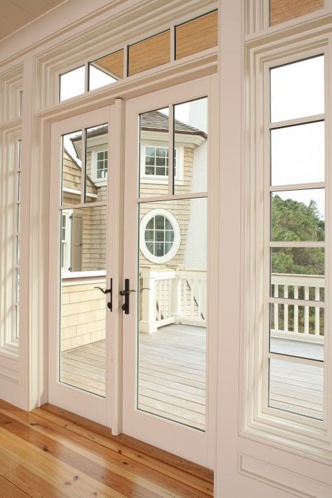 Exterior French Door Replacement For Back Sliding With Bronze Hardware