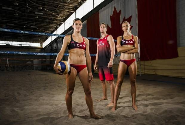 COURT DRESS Canada's 2016 beach volleyball players Jamie Broder, Sam Schachter and Kristina Valjas collaborated with Lululemon on the uniforms they are competing in.