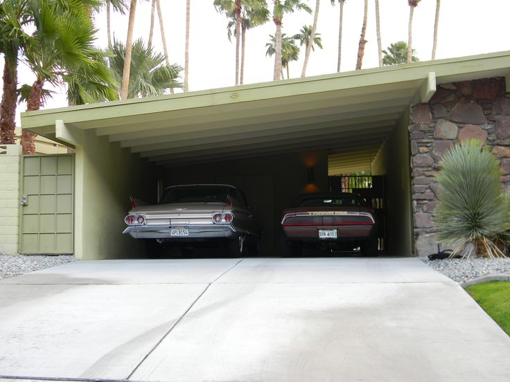 Digging These Cars In The Carport Of A Palm Springs Mid