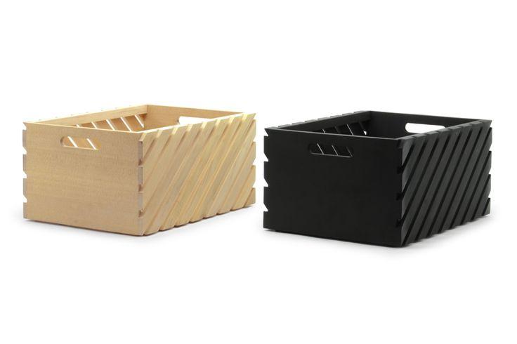 【生産終了】【在庫限り】スリットデザインのスタッキングボックス Lサイズ【北欧 雑貨 かご バスケット 収納 キッズ 子供用品 収納箱 おもちゃ箱 スタッキング 黒板】