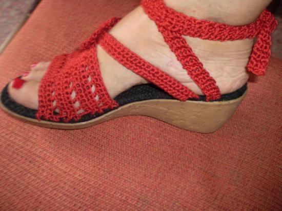 Sandalia de capellada tejida, cómodas se pueden realizar en tonos ...