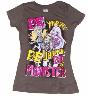 Amazon.com: Monster High Be a Monster Girls T-shirt: Clothing