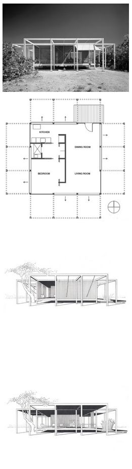 The Walter W. and Elaine Walker Guest House. 1952. Sanibel Island, Florida.  Paul Rudolph with Ralph Twitchell