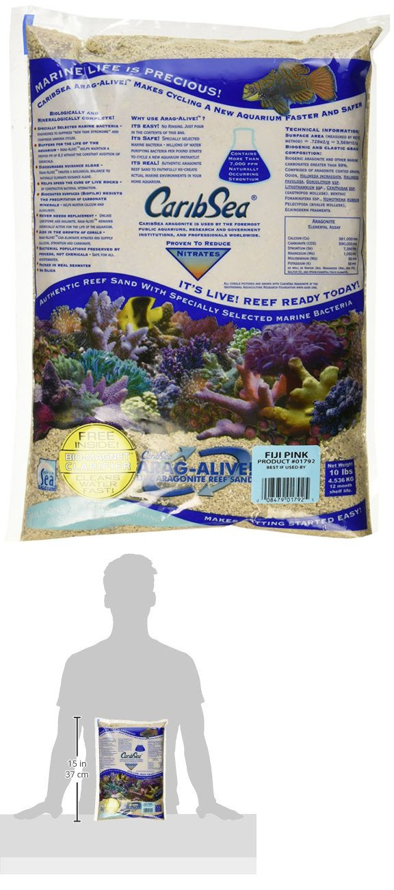 Gravel and Substrate 46439: Caribsea Arag-Alive Fiji Aquarium Sand, 10-Pound, Pink -> BUY IT NOW ONLY: $36.94 on eBay!
