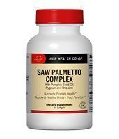 Saw Palmetto (New Lower Price - Was .... $10.98. Saw Palmetto Saw Palmetto appears to inhibit 5-alpha-reductase, the enzyme that converts testosterone to its more active form dihydrotestosterone (DHT). Saw palmetto does not seem to affect overall prostate size, but is believed to shrink the inner prostatic epithelium. Multiple clinical studies lasting up to 48 weeks have shown that saw palmetto significantly improves urinary symptoms such as frequent urination, painful urin...