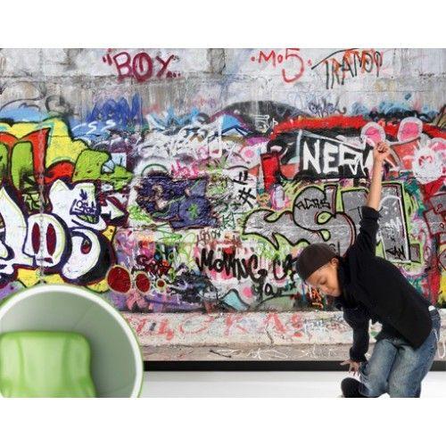 ... Graffiti fotobehang bij Behangwebshop  Behang  Pinterest  Graffiti