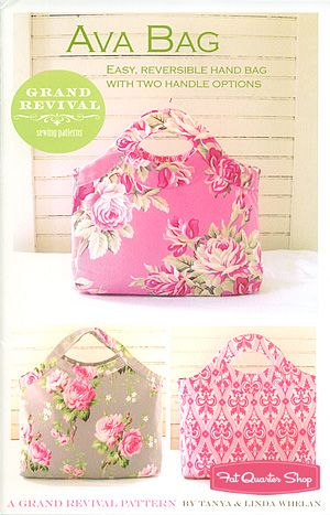 Grand Revival Ava Bag Sewing Pattern. Not a huge fan of home-sewn bags unless they are farmers market totes or beach bags, but this one is really cute!