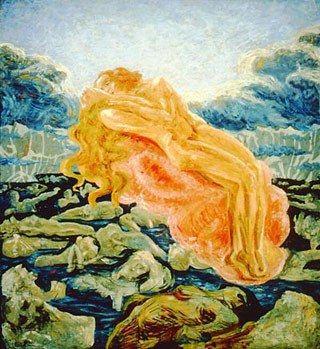 Il Sogno (Paolo e Francesca), 1908-1909, olio su tela, cm 140x130, collezione privata