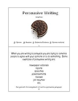writing persuasive essay lesson plan